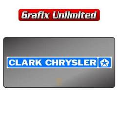 Dealership Decal, Clark Chrysler