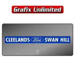 Dealership Decal, Cleelands Swanhill