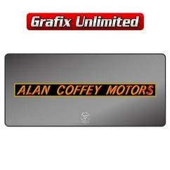 Dealership Decal, Coffey Alan Motors