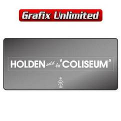 Dealership Decal, Coliseum Holden