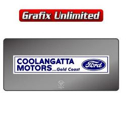 Dealership Decal, Coolangatta Motors