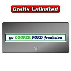 Dealership Decal, Cooper Ford Frankston