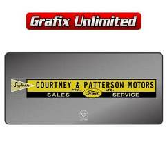 Dealership Decal, Courtney & Patterson Sales & Service