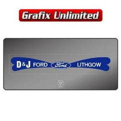 Dealership Decal, DJ Ford Lithgow