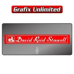 Dealership Decal, David Reid Stawell