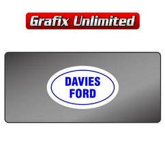 Dealership Decal, Davies Ford