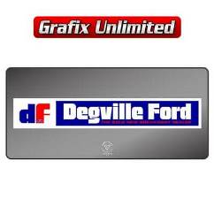 Dealership Decal, Degville Ford
