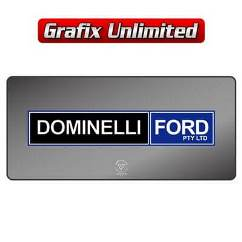 Dealership Decal, Dominelli Ford