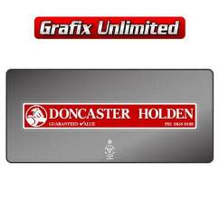 Dealership Decal, Doncaster Holden