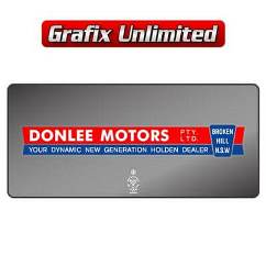 Dealership Decal, Donlee Motors