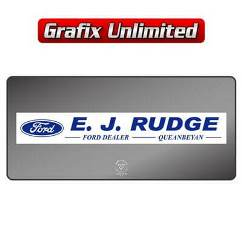 Dealership Decal, EJ Rudge
