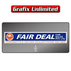 Dealership Decal, Fair Deal Car Sales Pty Ltd