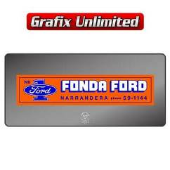Dealership Decal, Fonda Ford Narrandera
