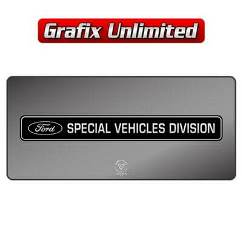 Dealership Decal, Ford Special Vehicles