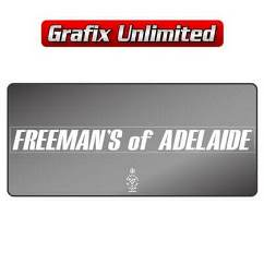 Dealership Decal, Freemans of Adelaide