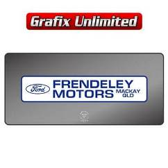 Dealership Decal, Frendeley Motors 1968 - 1972