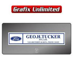 Dealership Decal, GEO Tucker