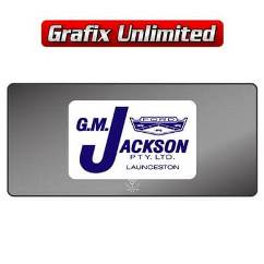 Dealership Decal, G.M. Jackson Launceston