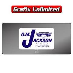 Dealership Decal, G.M. Jackson Frankston