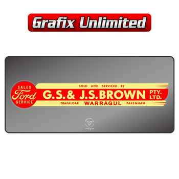 Dealership Decal, GS & JS Brown Warragul