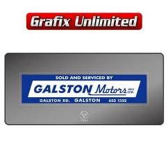 Dealership Decal, Galston Motors