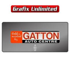 Dealership Decal, Gatton Auto Centre
