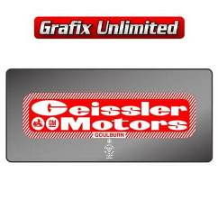 Dealership Decal, Geissler Motors Goulburn