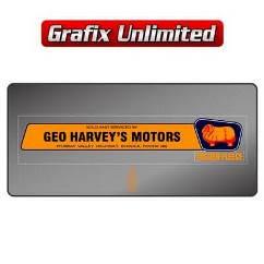 Dealership Decal, Geo Harvey`s Motors