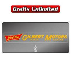 Dealership Decal, Gilbert Motors GMH Dealer