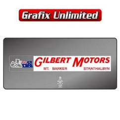 Dealership Decal, Gilbert Motors Mt Barker