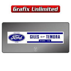 Dealership Decal, Giles of Temora