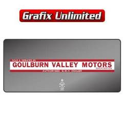Dealership Decal, Goulburn Valley Motors Shepparton