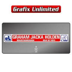 Dealership Decal, Graham Jacka Holden