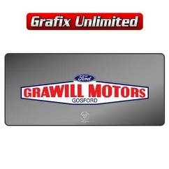 Dealership Decal, Grawill Motors Gosford