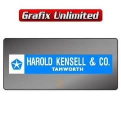 Dealership Decal, Harold Kensell & Co Chrysler