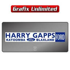 Dealership Decal, Harry Gapps Ford