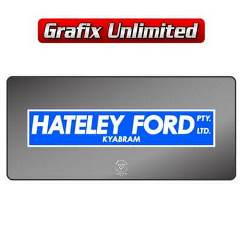 Dealership Decal, Hateley Ford Kyabram