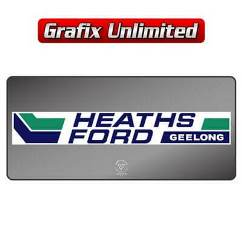 Dealership Decal, Heaths Ford 1974 - 1978