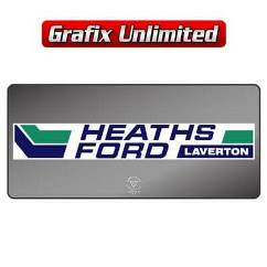 Dealership Decal, Heaths Ford Laverton