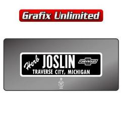 Dealership Decal, Herb Joslin Chevrolet