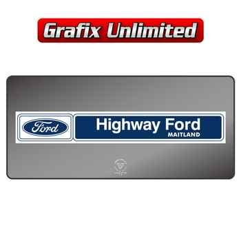 Dealership Decal, Highway Ford Maitland