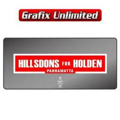 Dealership Decal, Hillsdon for Holden Parramatta