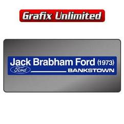 Dealership Decal, Jack Brabham Ford 1973