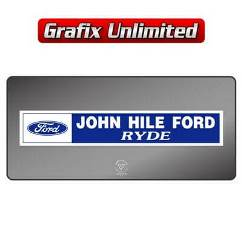 Dealership Decal, John Hile Ford