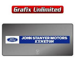 Dealership Decal, John Stanyer Motors