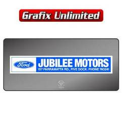 Dealership Decal, Jubilee Motors