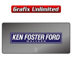 Dealership Decal, Ken Foster Ford Malvern