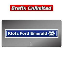 Dealership Decal, Klotz Ford Emerald