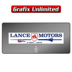 Dealership Decal, Lance Motors Penrith