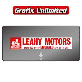 Dealership Decal, Leahy Motors Emerald